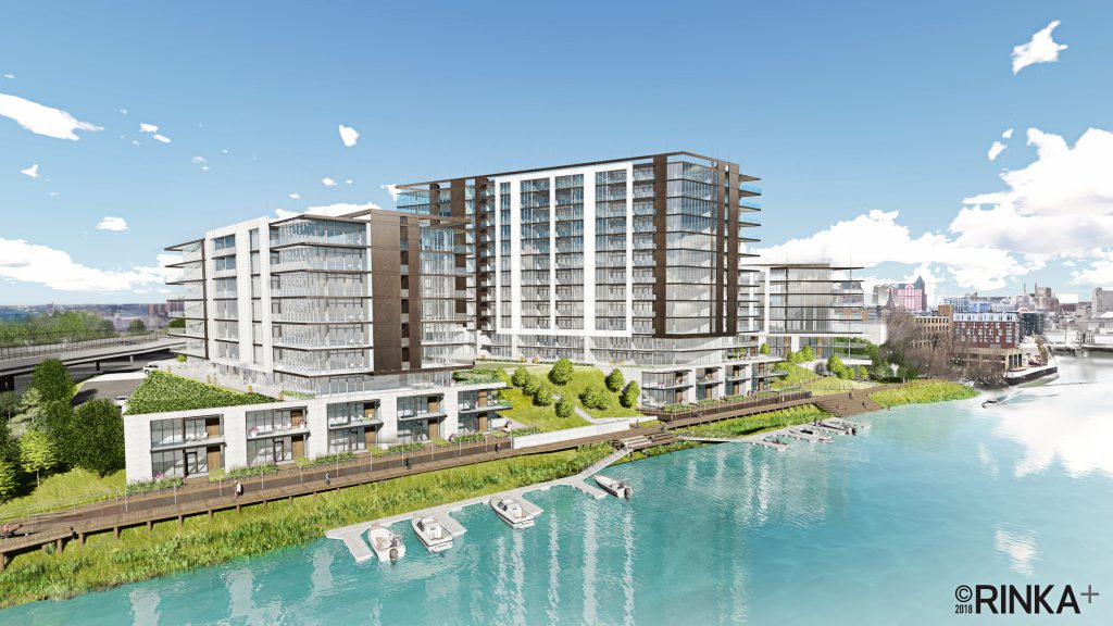 Brady & Water condominium development rendering. Rendering by RINKA.