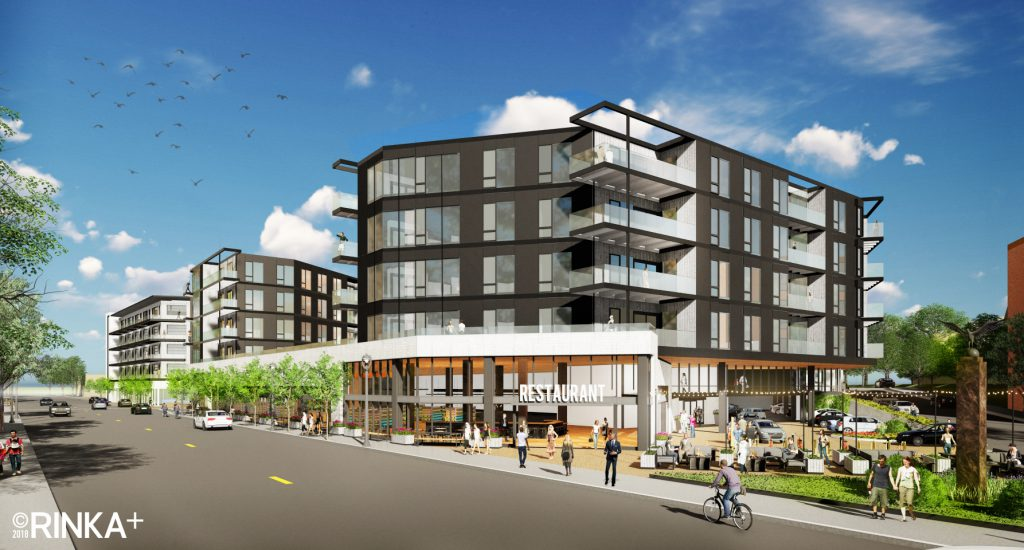 Updated proposal for 2700 S. Kinnickinnic Ave. block. Rendering by RINKA.