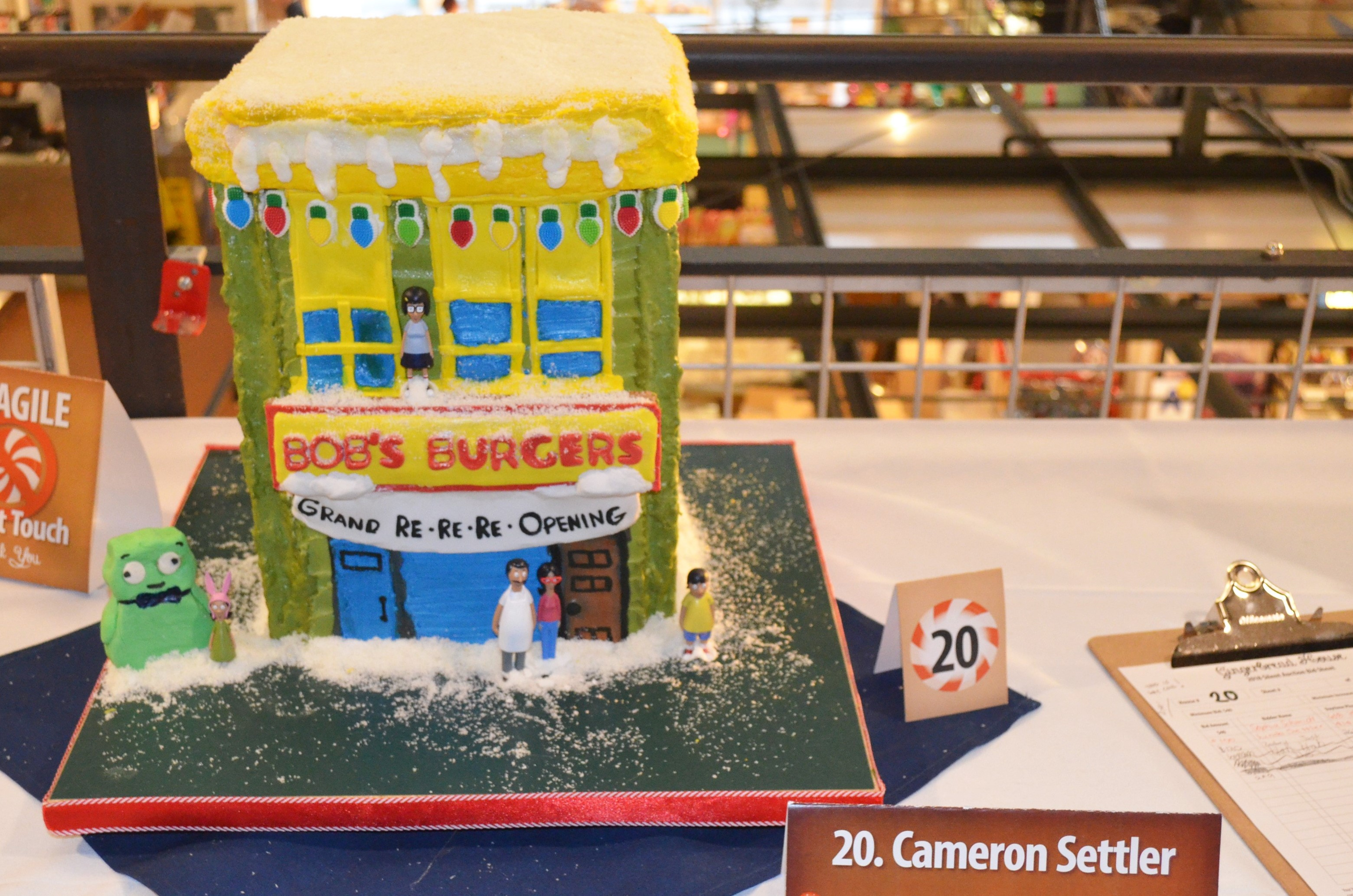 Bob's Burgers gingerbread house by Cameron Settler. Photo by Jack Fennimore.