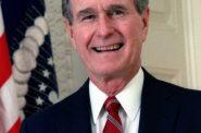 George H.W. Bush. Photo is in the Public Domain.