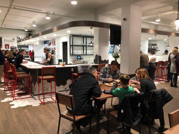 Crossroads Collective food hall. Photo by Jeramey Jannene.