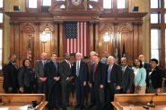 Governor-elect Tony Evers visit Milwaukee City Hall. Photo by Jeramey Jannene.