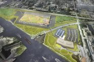 Komatsu Campus Plan. Rendering from City of Milwaukee/Komatsu.