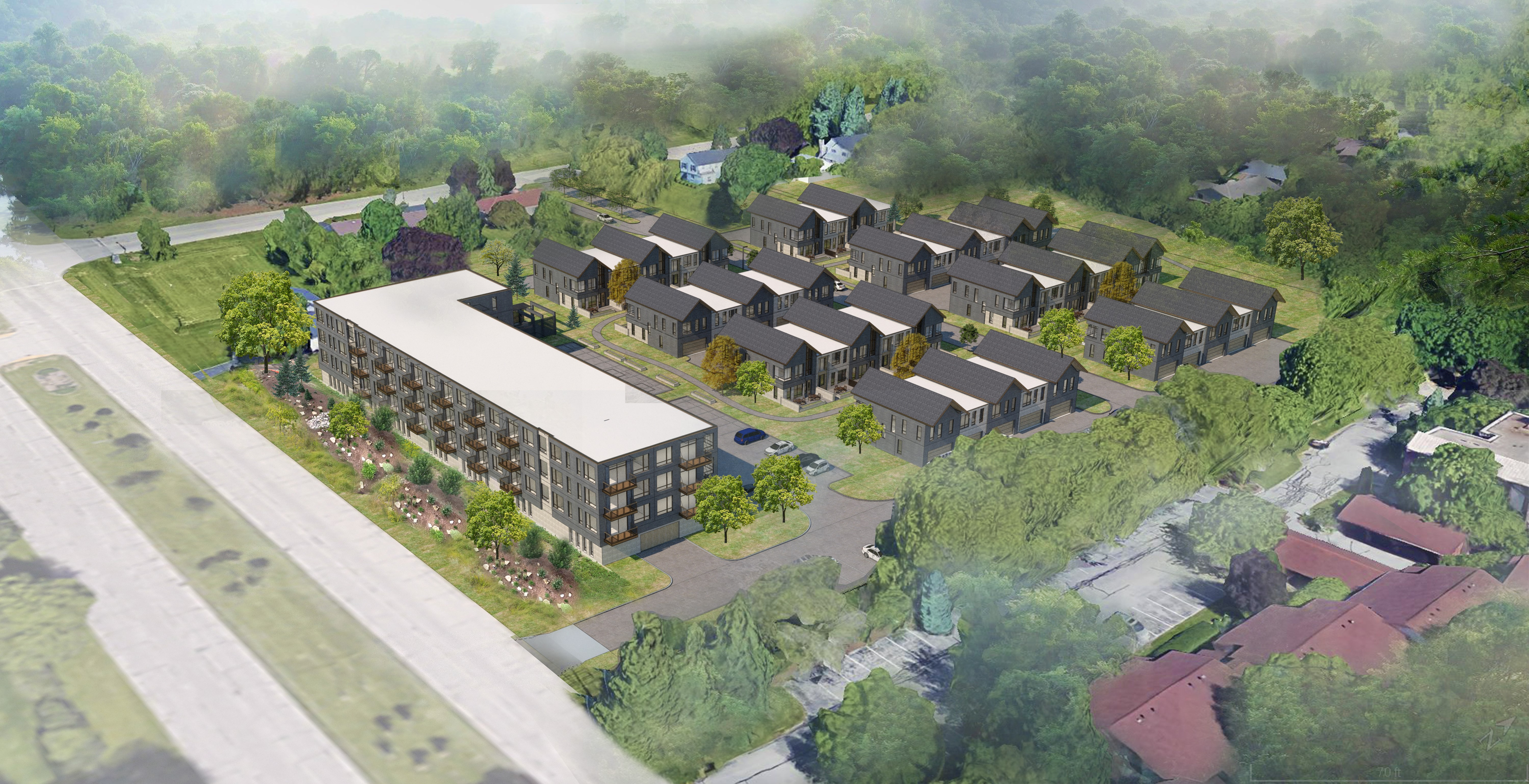New Land's Glendale Project. Rendering by Korb + Associates Architects.