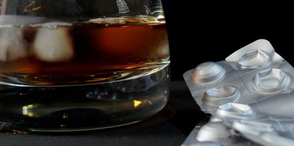 Alcohol and drugs. Photo is in the Public Domain.