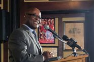 Earnell Lucas speaks at a Milwaukee Press Club event Wednesday, Dec. 5, 2018. Photo by Corri Hess/WPR.