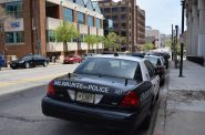 Milwaukee Police Department squad car. Photo by Gretchen Brown/WPR.