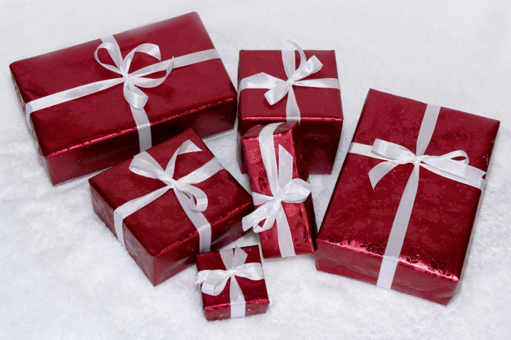 Gifts. Photo is in the Public Domain.