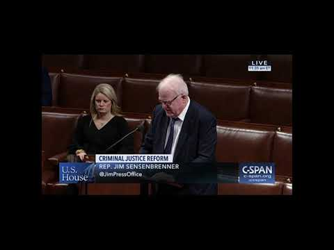 Sensenbrenner's Second Chance Reauthorization Act Sent to President's Desk as Part of Bipartisan Criminal Justice Reform Package