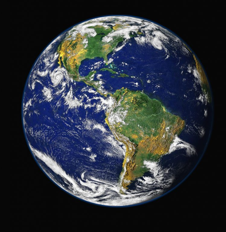 Earth. Photo is in the Public Domain.