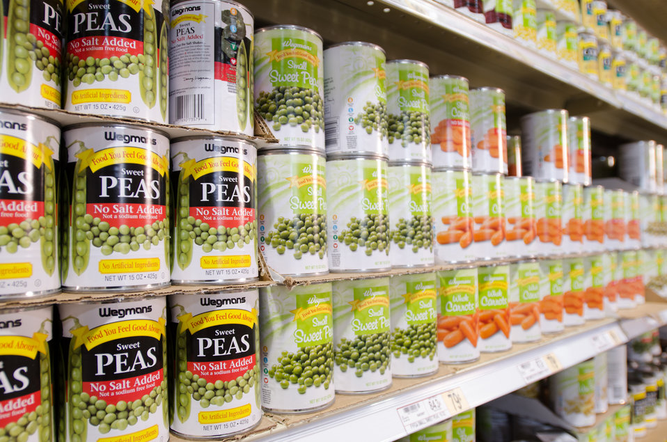 Canned goods. Photo is in the Public Domain.