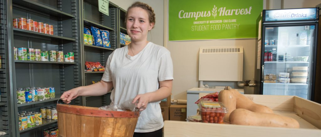 University of Wisconsin-Eau Claire, the Campus Harvest Food Pantry. Photo from the University of Wisconsin-Eau Claire.
