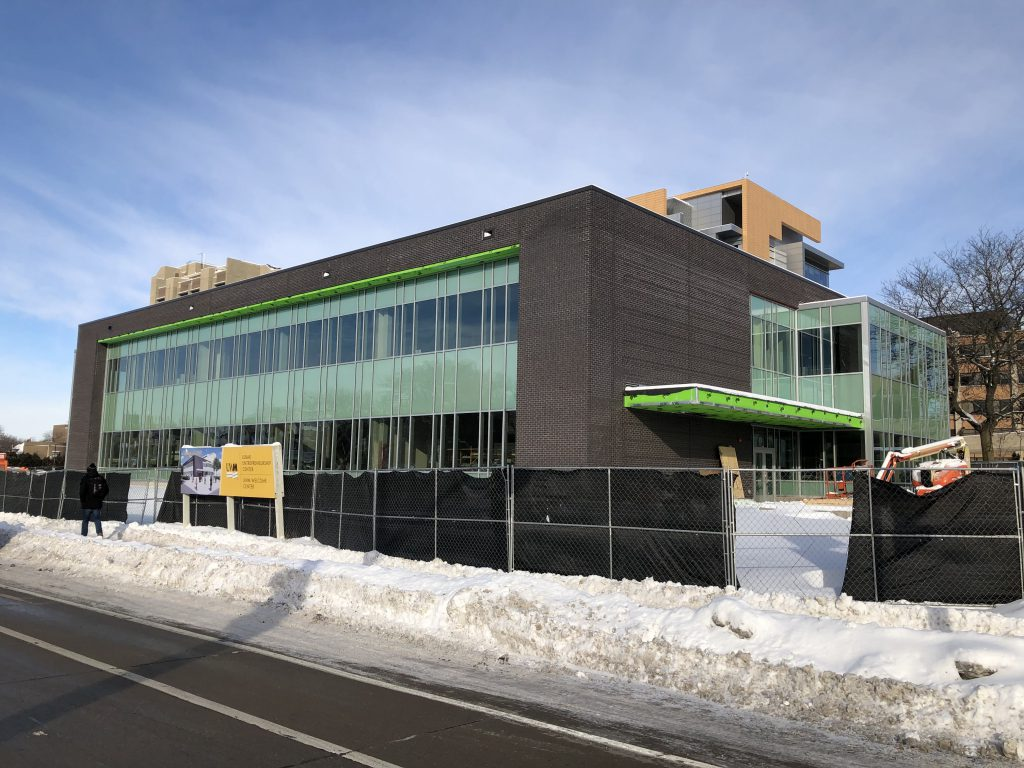 Lubar Center for Entrepreneurship construction. Photo by Jeramey Jannene.