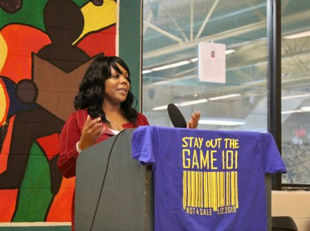 April Bentley, a human trafficking survivor and advocate, delivered the keynote speech. Photo by Allison Dikanovic/NNS.