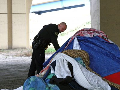 Police Helping Homeless in Encampments