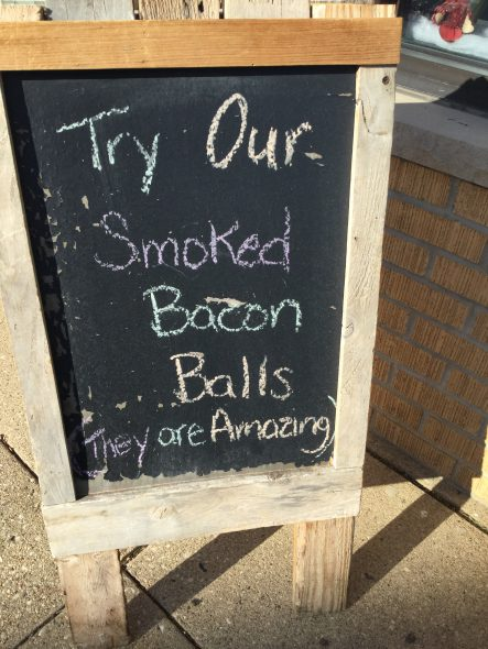 Try our smoked bacon balls. Photo by Cari Taylor-Carlson.