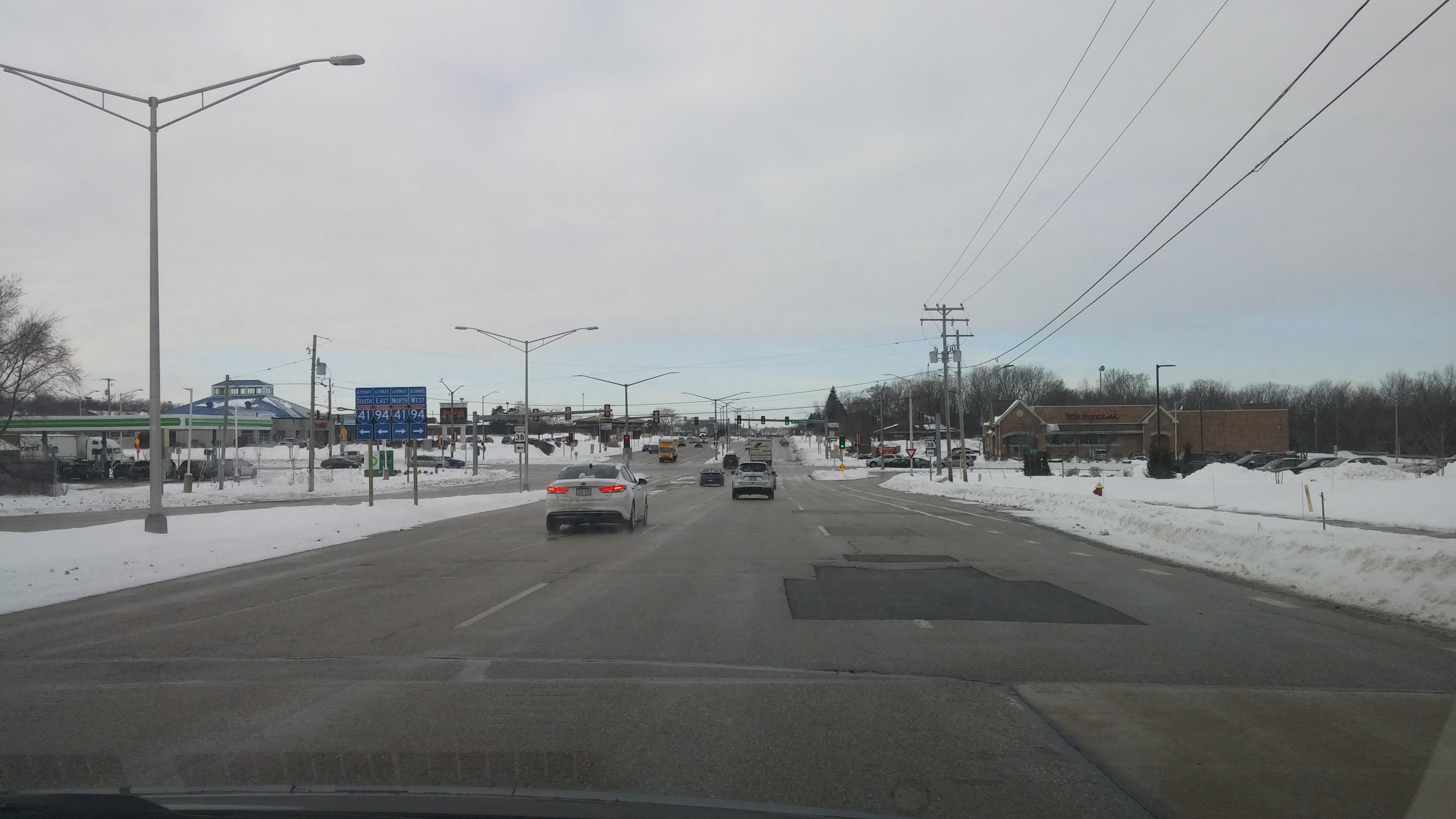 Ryan Road is part of Highway 100. Photo by Carl Baehr.