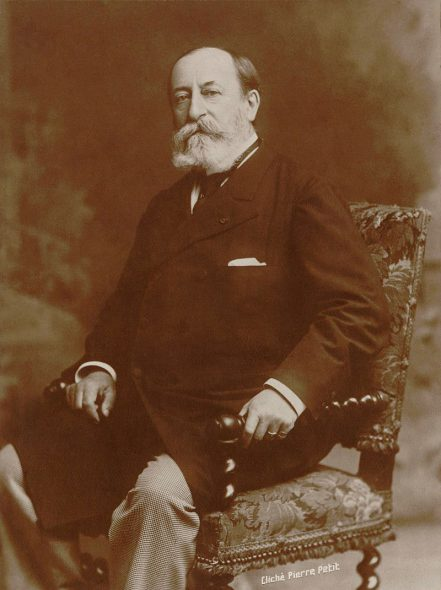 Camille Saint-Saëns. Phot by Pierre Petit in 1900.