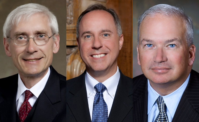 Tony Evers, Robin Vos and Scott Fitzgerald.