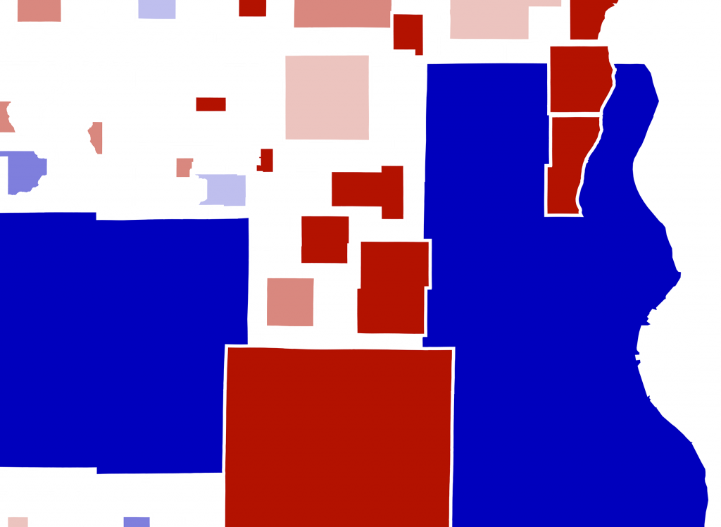 Cartogram by University of Wisconsin Applied Population Lab.