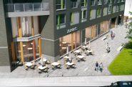 Archer Avenue plaza. Rendering by Korb + Associates Architects.