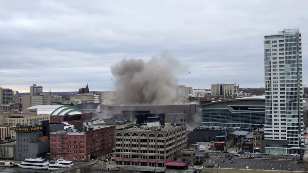 BMO Harris Bradley Center Demolition. Photo by Jeramey Jannene.