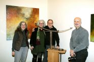 Artists Beth Sahagian Allsopp, Mary and Joe Mendla and Ed Sahagian Allsopp. Photo by Erol Reyal.