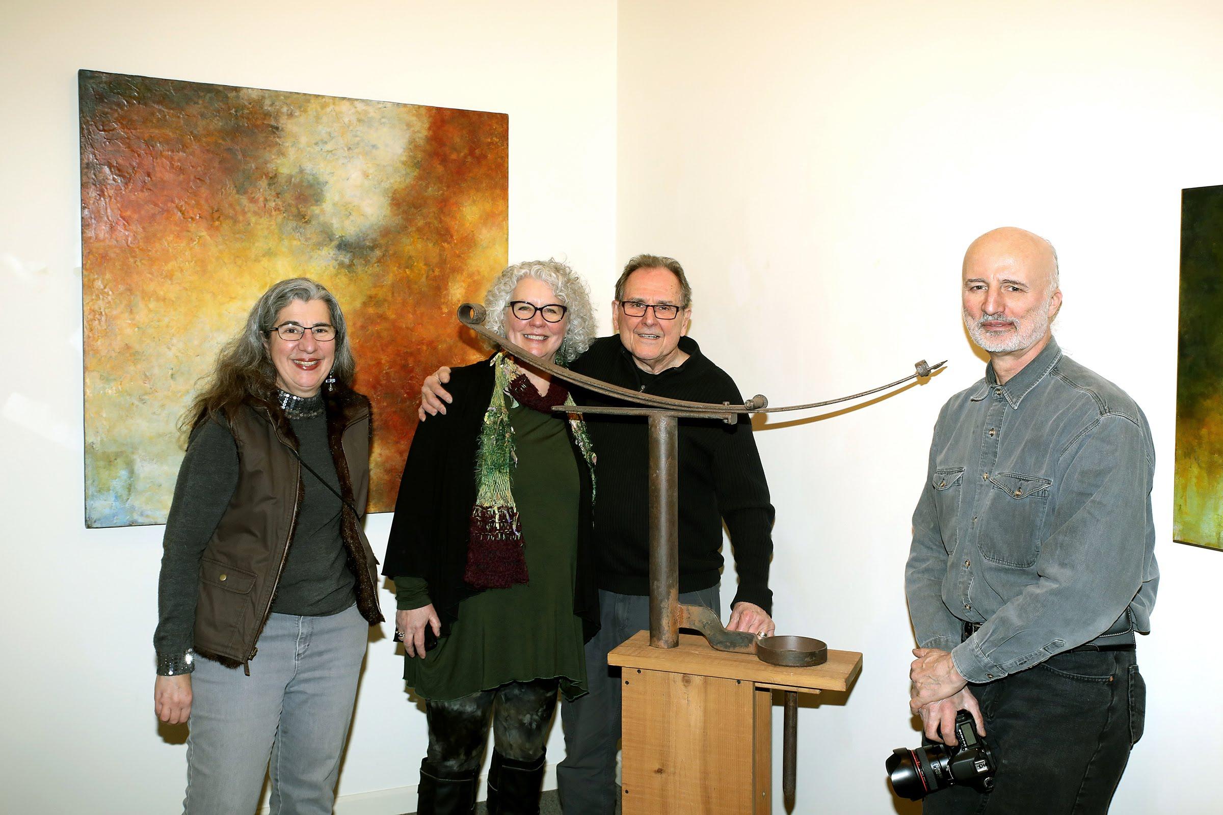 Artists Beth Sahagian Allsopp, Mary and Joe Mendla and Ed Sahagian Allsopp. Photo by Erol Reyal.
