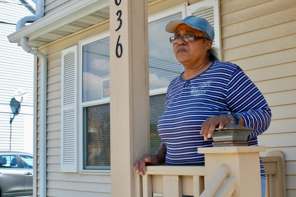 Sandra Campbell grew up in two houses her parents owned in Lindsay Heights. In 2007, she built this house near 17th and Walnut streets. Photo by Andrea Waxman/NNS.