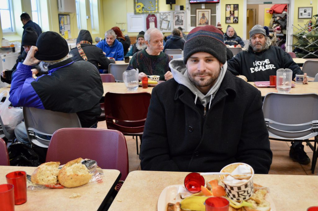 James Bredmore, who's been homeless for several years, said he frequently comes to St. Ben's. Photo by Ana Martinez-Ortiz/NNS.