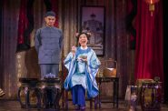 Milwaukee Repertory Theater presents The Chinese Lady in the Stiemke Studio from February 13 – March 24, 2019 featuring Jon Norman Schneider as Atung and Lisa Helmi Johanson as Afong Moy. Photo by Michael Brosilow.