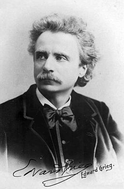 Edvard Grieg. Image is in the Public Domain.