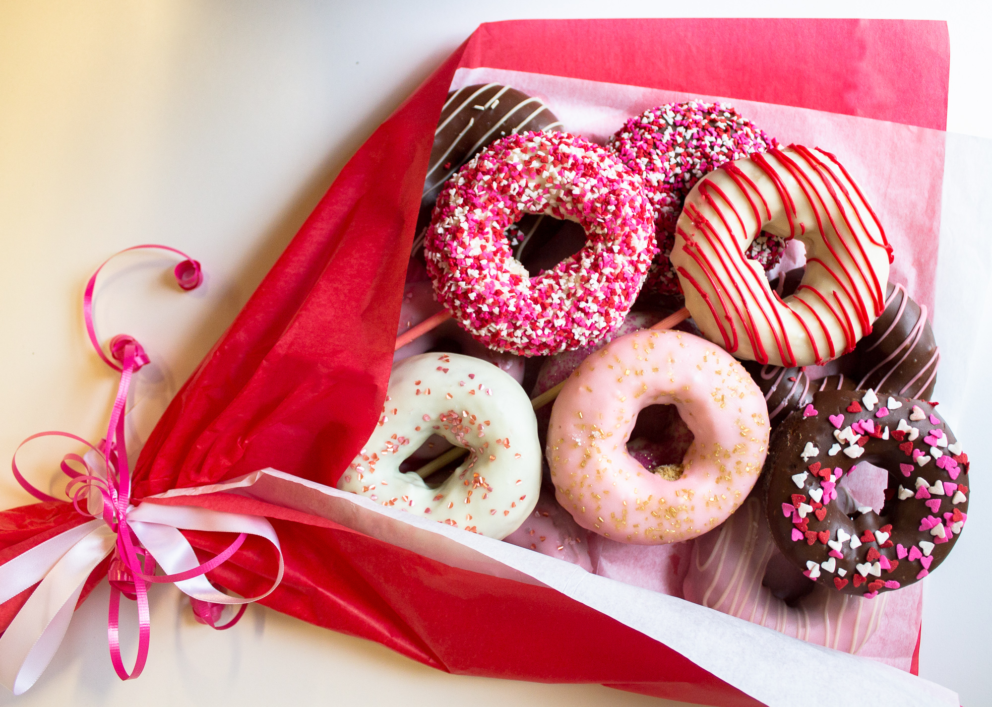 Holey Moley Doughnuts Debuts Valentine's Day Doughnut Bouquets