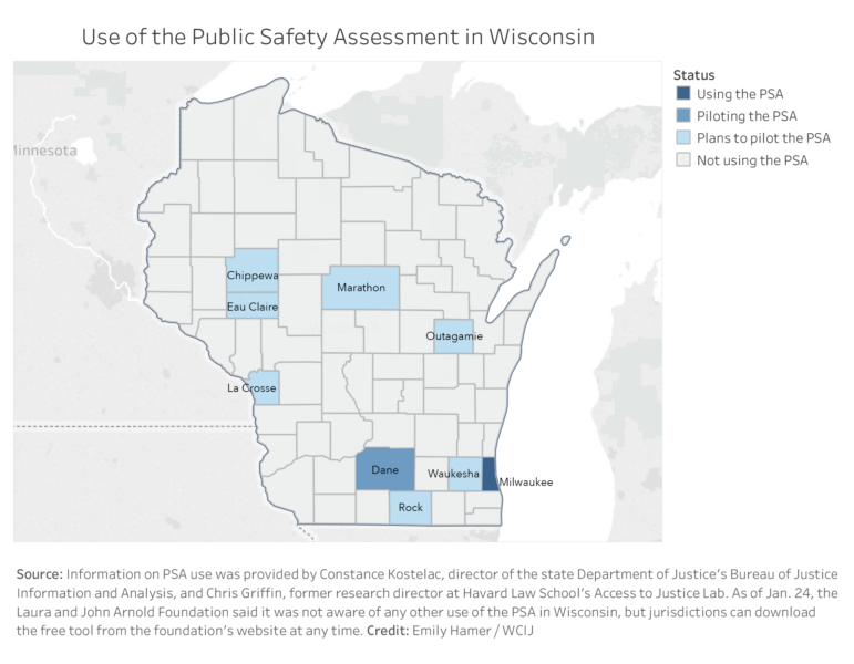 Use of the Public Safety Assessment in Wisconsin