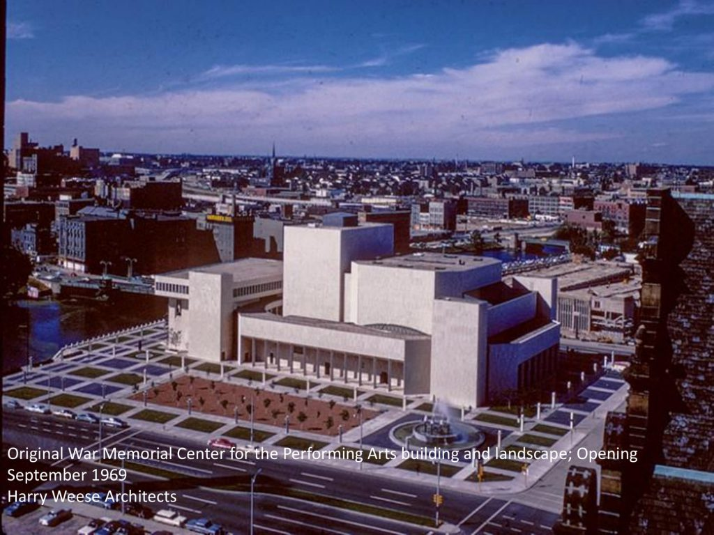 The Marcus Center for the Performing Arts in 1969. Image provided to Historic Preservation Commission by Jim Shields.