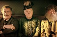 Saul Rubinek, Tyne Daly, and Chelcie Ross (left to right) share an unnatural stagecoach ride in 'The Ballad of Buster Scruggs.' Photo credit: Netflix.