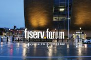 New Fiserv Forum sign. Rendering by Populous.