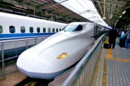 Shinkansen, a bullet train in Japan. CC0 Public Domain.