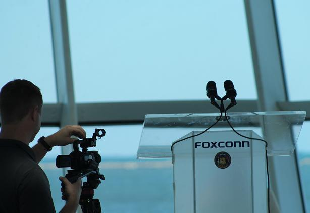 Foxconn. Photo by David Cole/WPR.