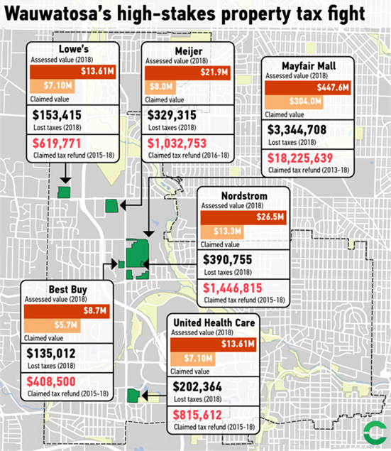 Wauwatosa's high-stakes property tax fight. Courtesy of CityLab