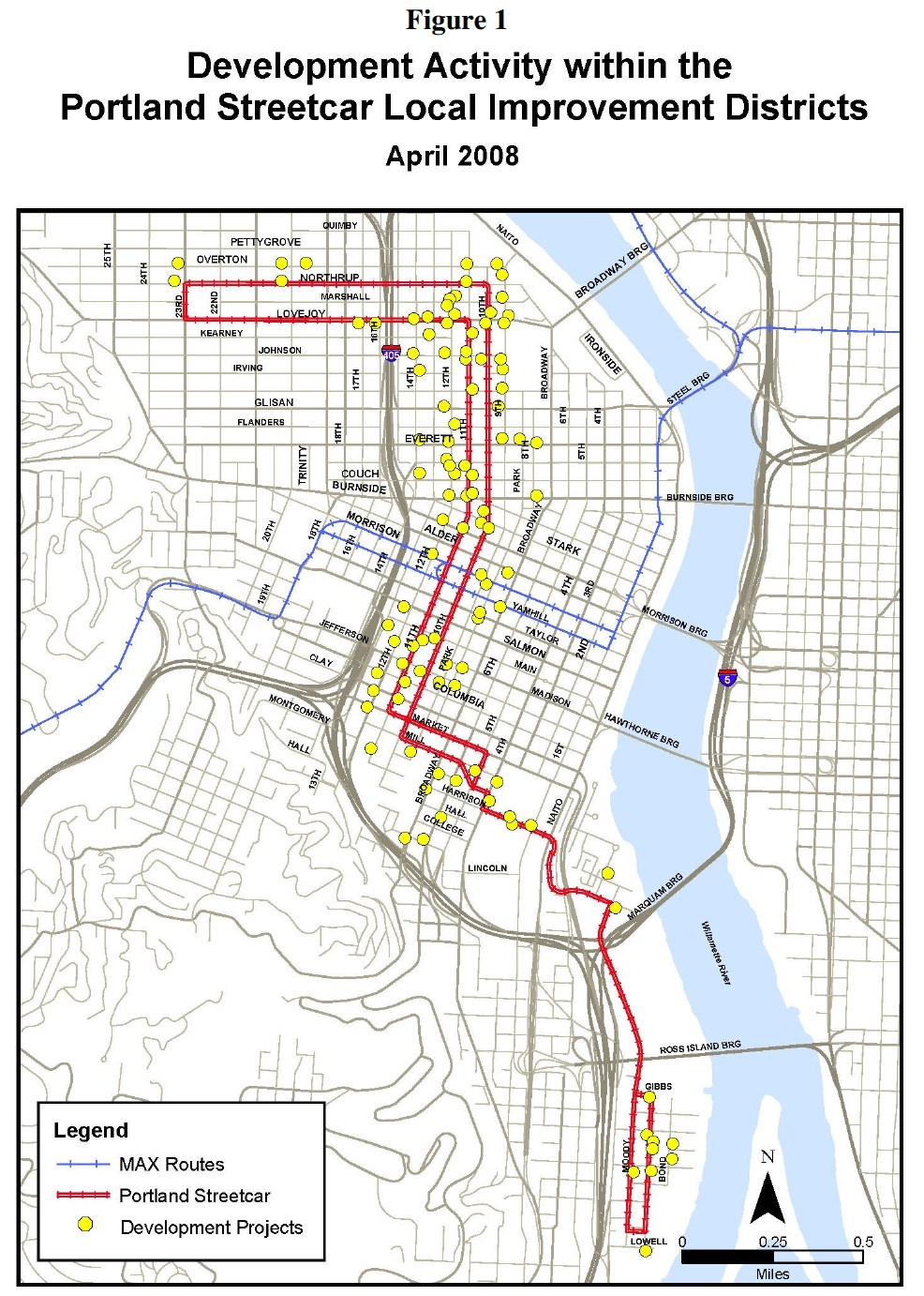 Development Activity within the Portland Streetcar Local Improvement Districts