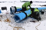 Illustration by Kristian Knutsen; image via Advance Construction Inc./Racine Water Utility.