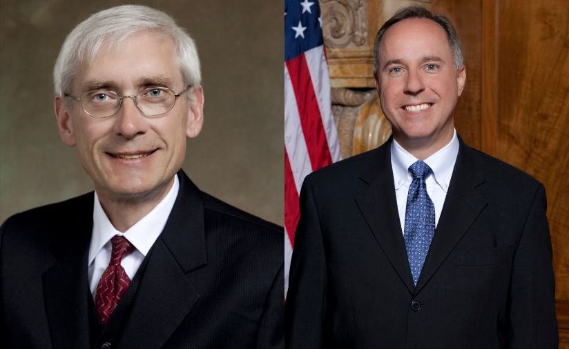 Tony Evers and Robin Vos.