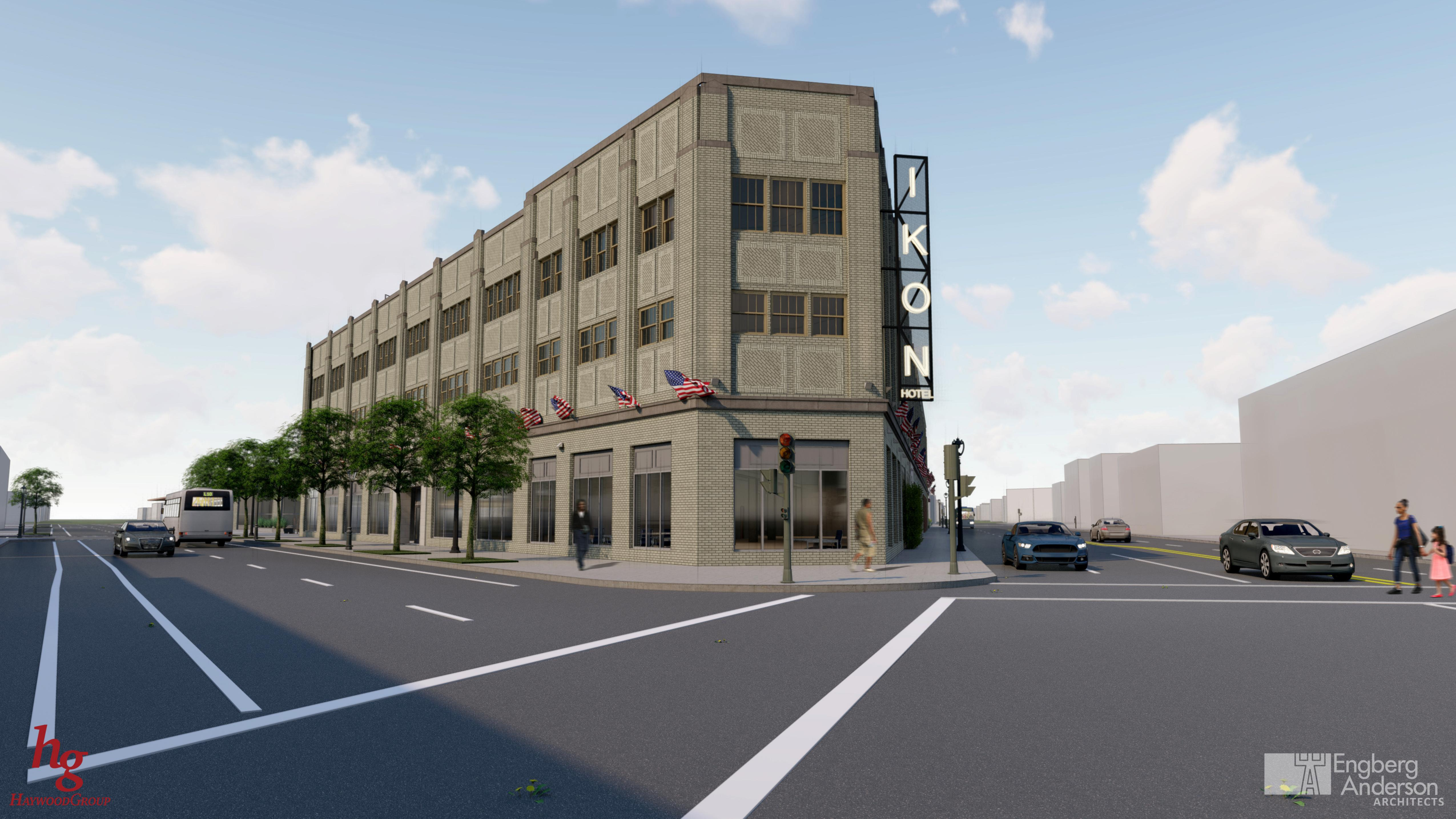 Ikon Hotel. Rendering by Engberg Anderson Architects.