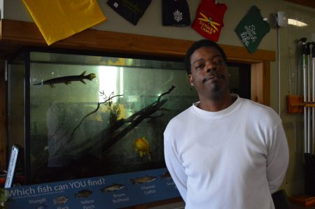 """Terrance Davis, visitor services specialist at the center, is happy that the Urban Ecology Center can move forward with its plans. """"Anytime you plan something and you can execute it is always a great feeling,"""" Davis said. Photo by Analise Pruni/NNS."""