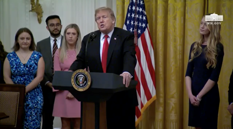 Trump Discusses WILL Lawsuit at White House