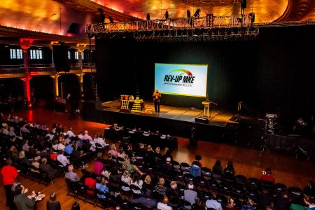 The annual Rev-Up pitch event culminates at the Eagles Ballroom. Photo by Sarah Lipo/NNS.
