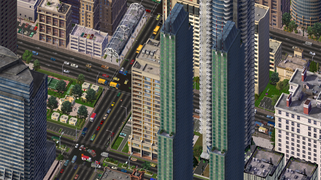 SimCity 4 Downtown Traffic. Photo by Haljackey. (CC BY-SA 2.0)