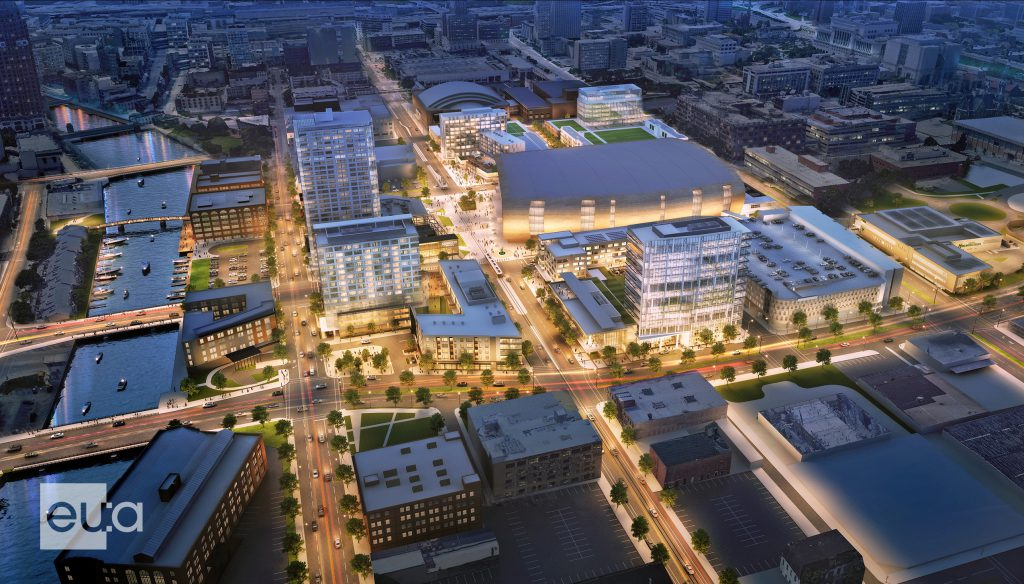 Fiserv Forum Master Plan. Rendering from Eppstein Uhen Architects.