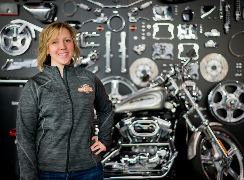 Amanda Ridout. Photo from Harley-Davidson.